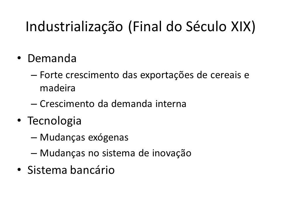 Industrialização (Final do Século XIX)
