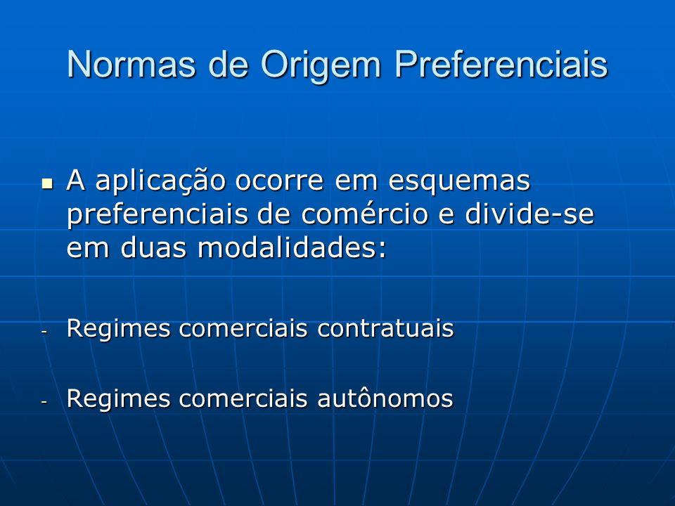 Normas de Origem Preferenciais