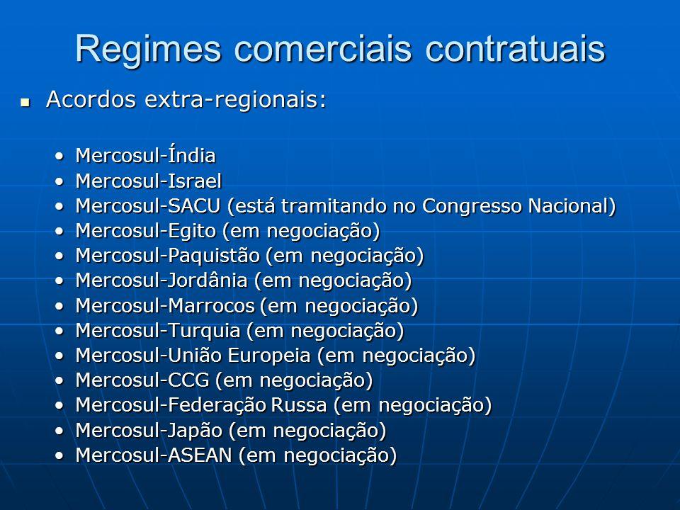 Regimes comerciais contratuais