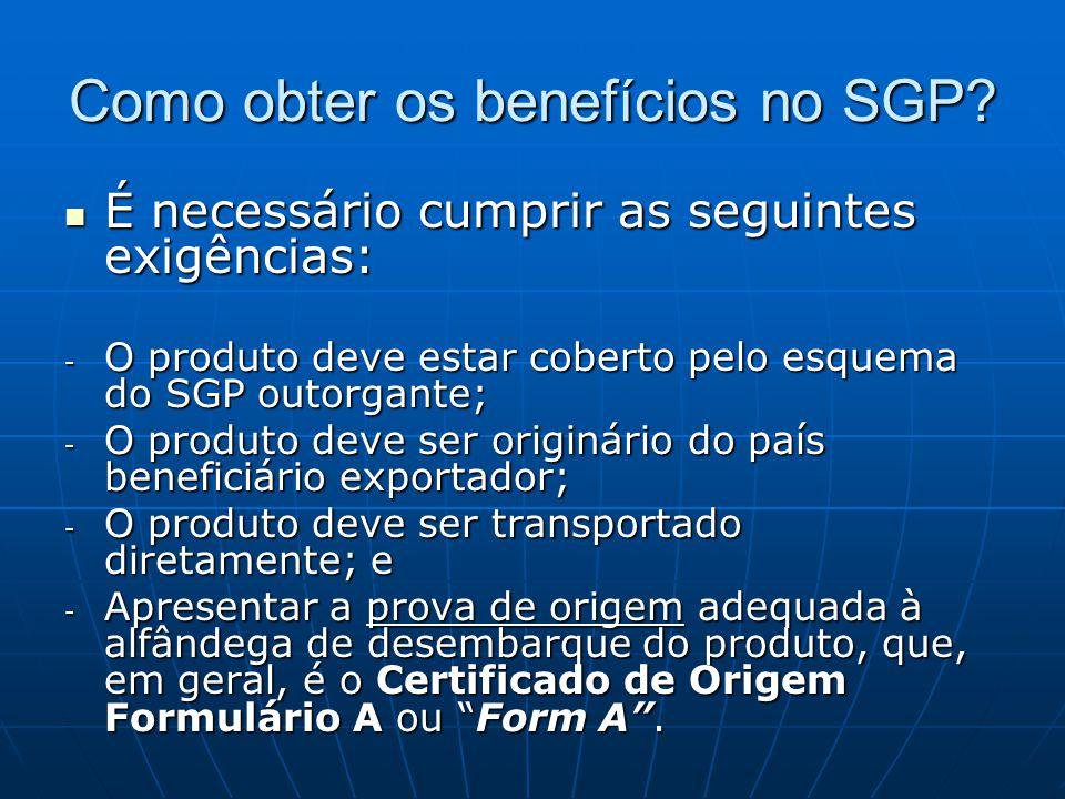 Como obter os benefícios no SGP