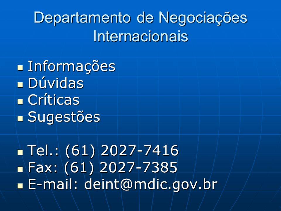 Departamento de Negociações Internacionais