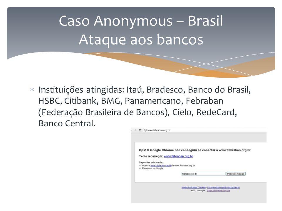 Caso Anonymous – Brasil Ataque aos bancos
