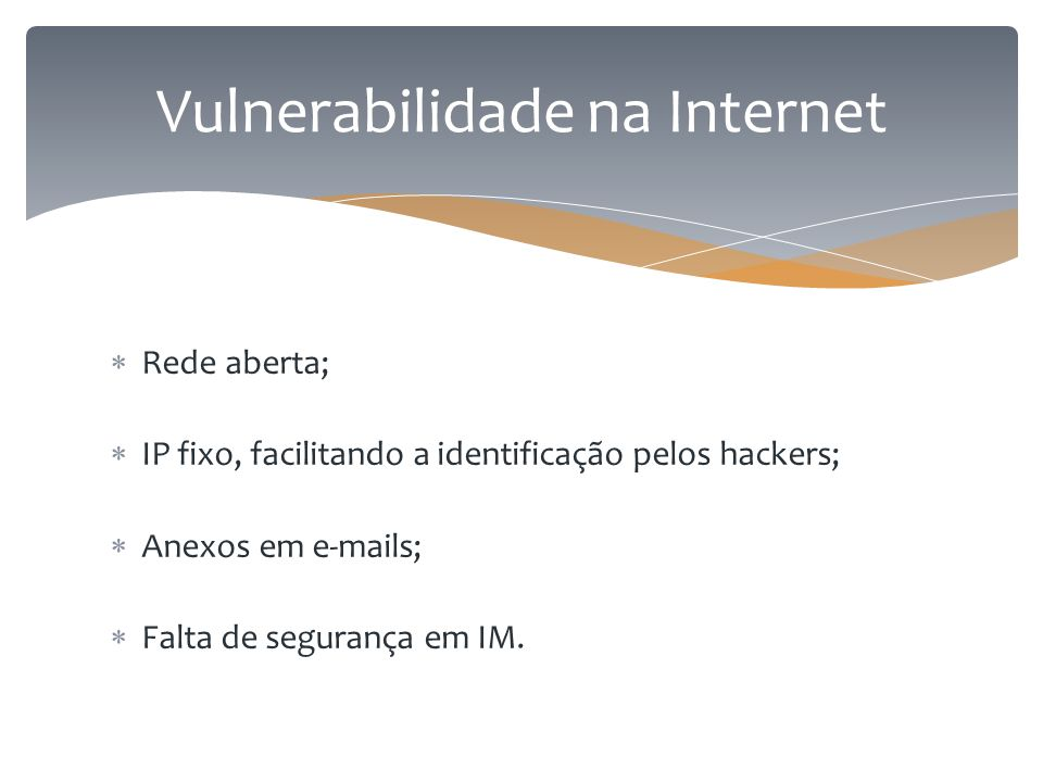 Vulnerabilidade na Internet