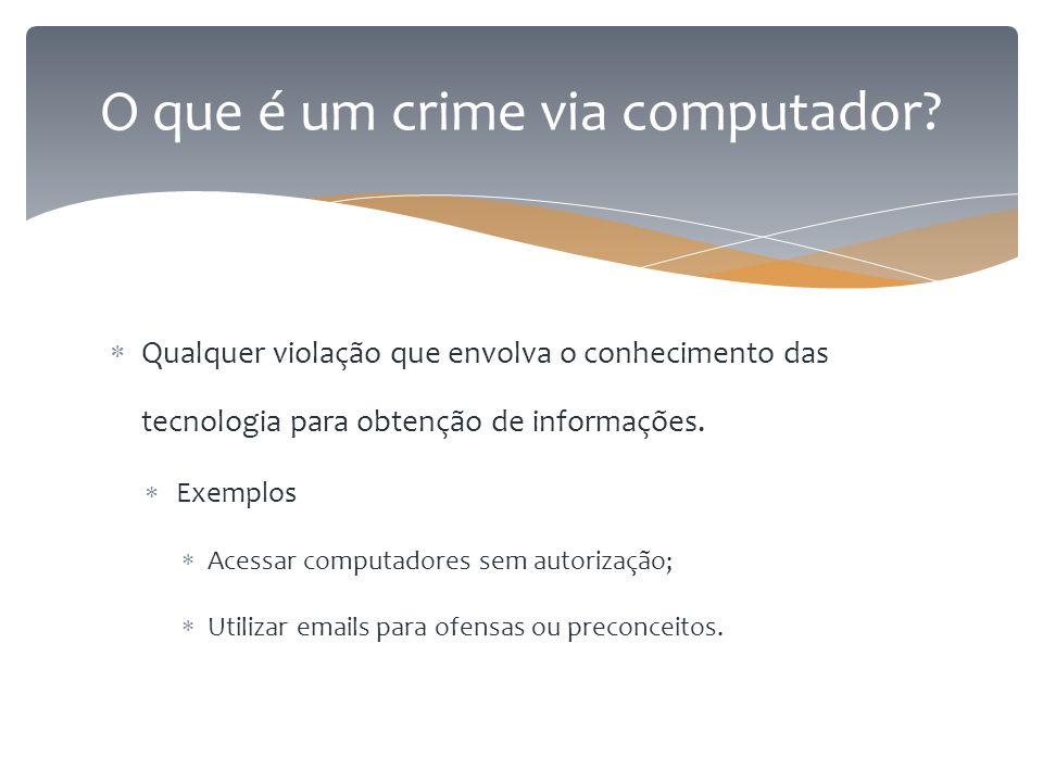 O que é um crime via computador