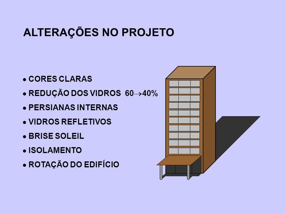 ALTERAÇÕES NO PROJETO  CORES CLARAS  REDUÇÃO DOS VIDROS 6040%