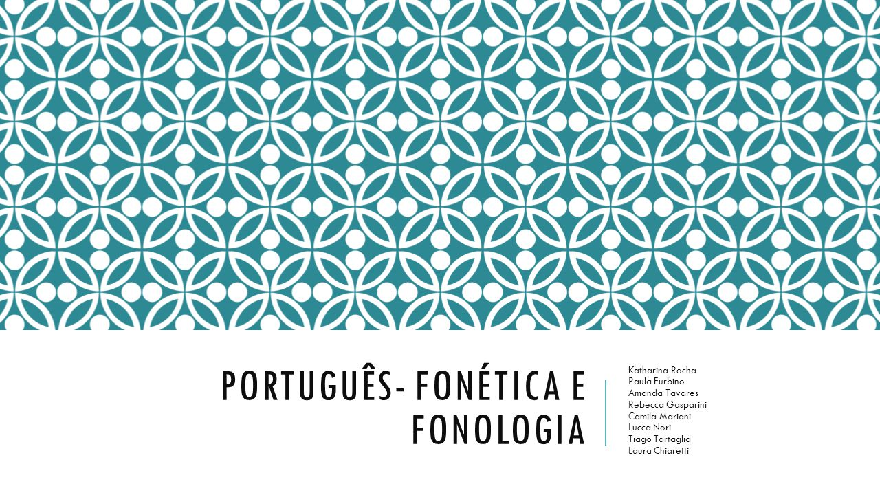 Português- fonética e fonologia
