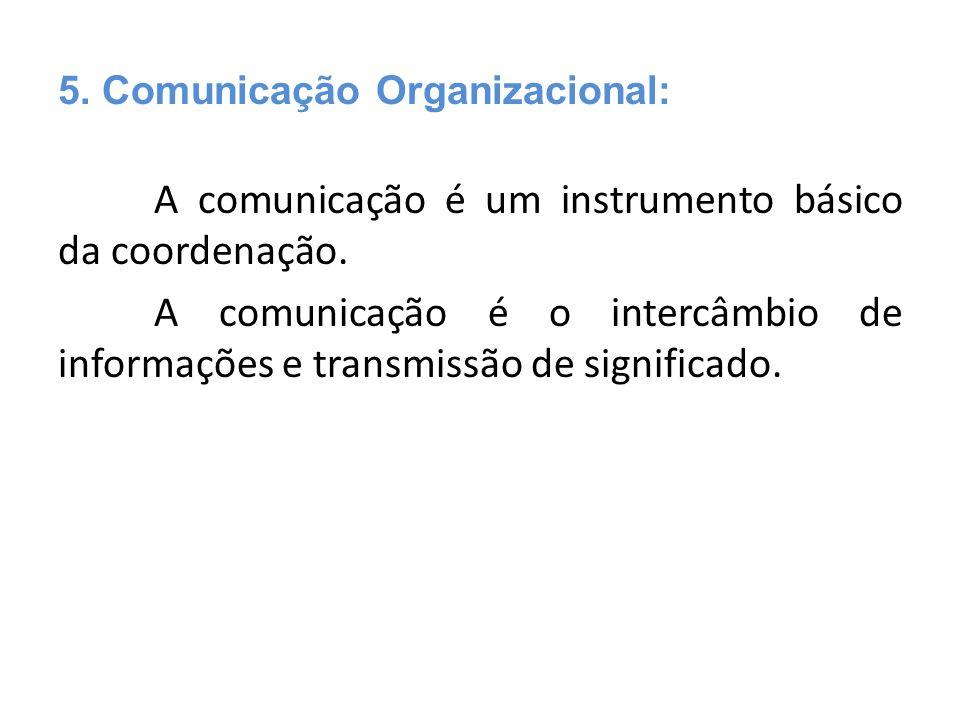5. Comunicação Organizacional: