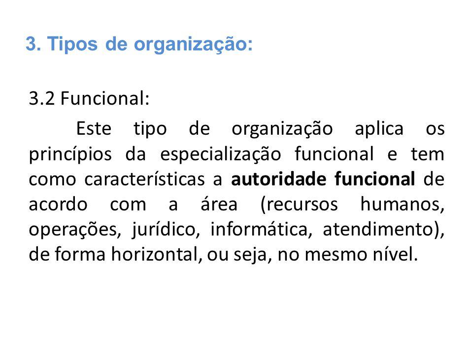 3. Tipos de organização: