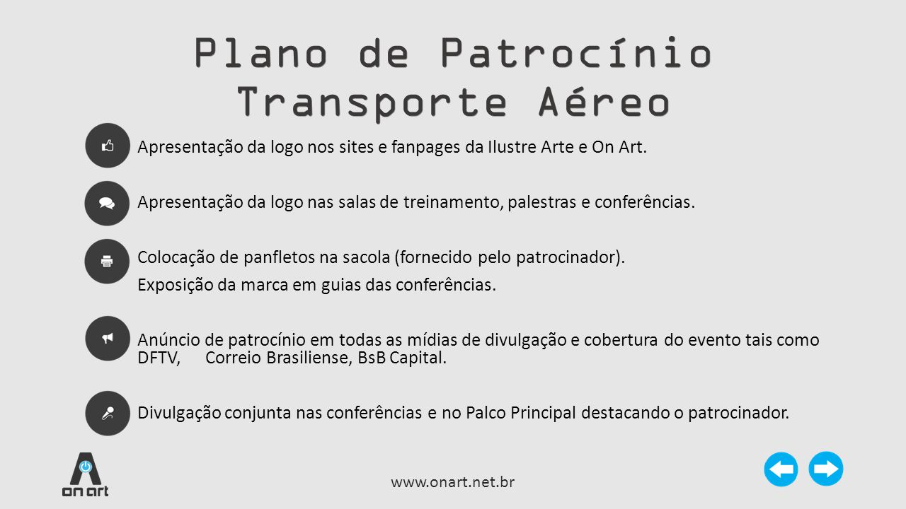 Plano de Patrocínio Transporte Aéreo