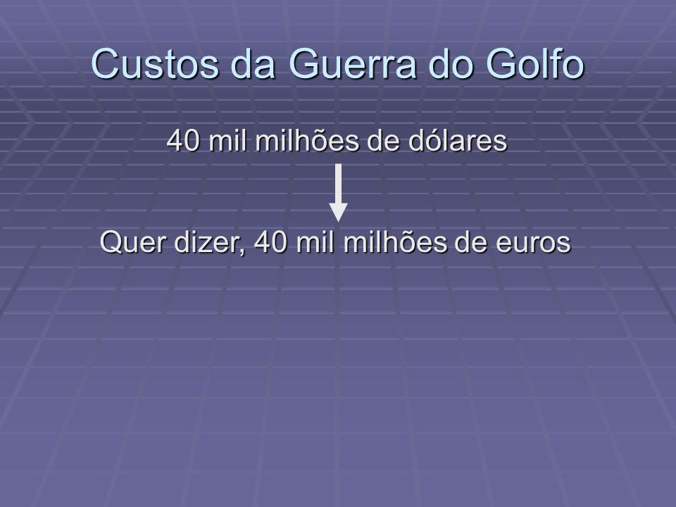 Custos da Guerra do Golfo