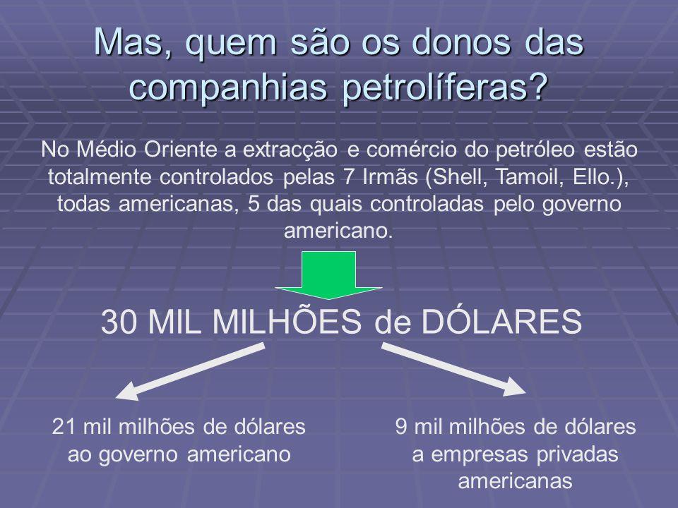 Mas, quem são os donos das companhias petrolíferas