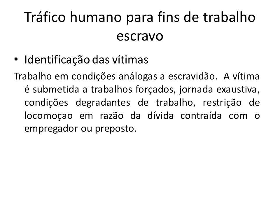 Tráfico humano para fins de trabalho escravo