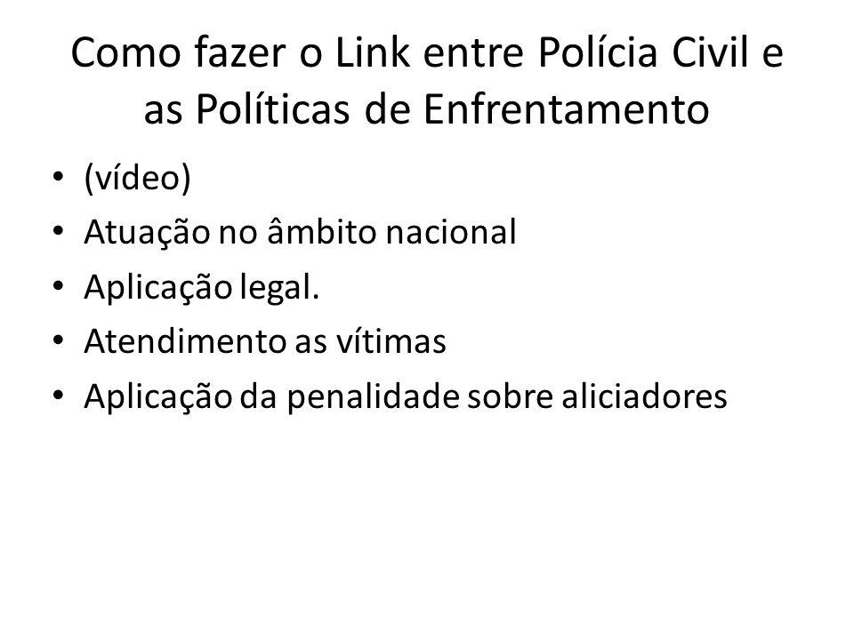 Como fazer o Link entre Polícia Civil e as Políticas de Enfrentamento