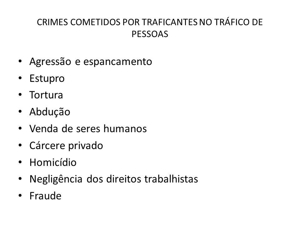 CRIMES COMETIDOS POR TRAFICANTES NO TRÁFICO DE PESSOAS
