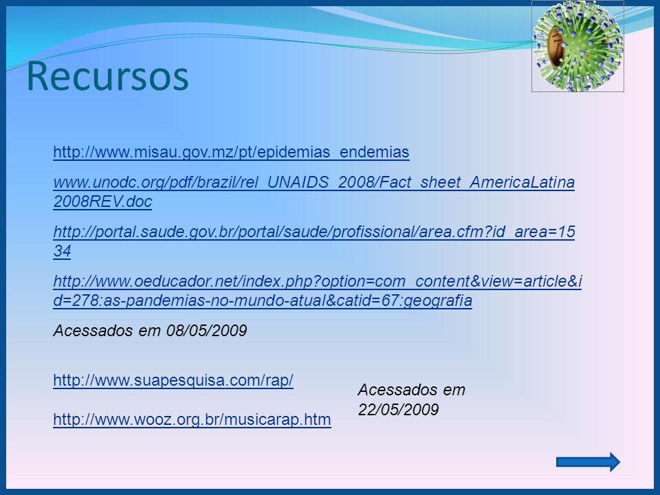 Recursos http://www.misau.gov.mz/pt/epidemias_endemias