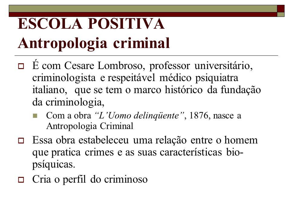 ESCOLA POSITIVA Antropologia criminal