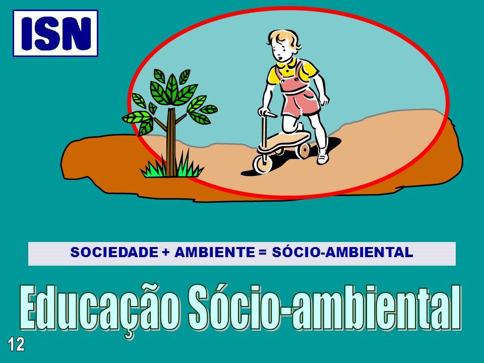 SOCIEDADE + AMBIENTE = SÓCIO-AMBIENTAL