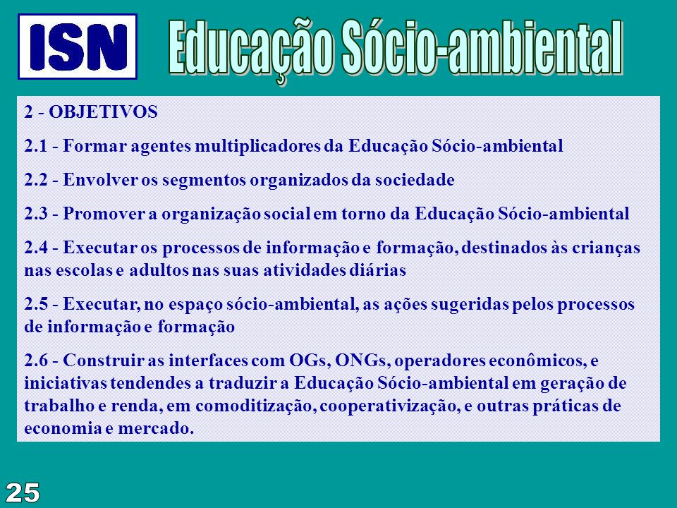 Educação Sócio-ambiental