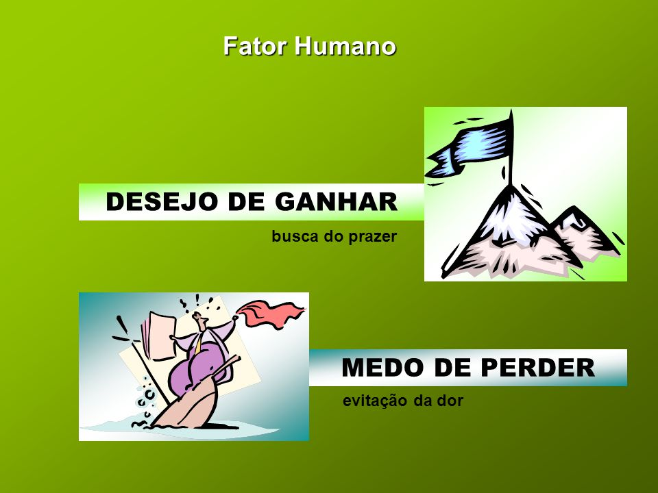 Fator Humano DESEJO DE GANHAR MEDO DE PERDER busca do prazer