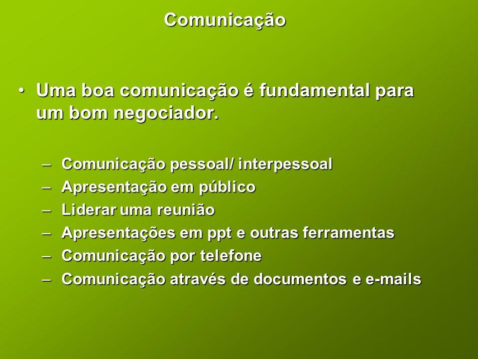 Uma boa comunicação é fundamental para um bom negociador.