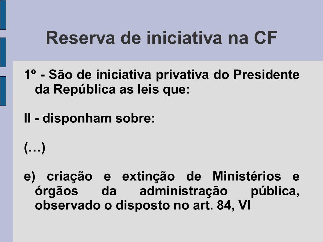 Reserva de iniciativa na CF