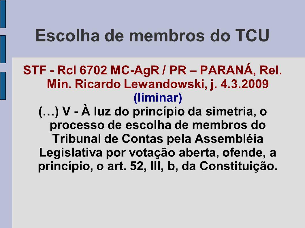 Escolha de membros do TCU