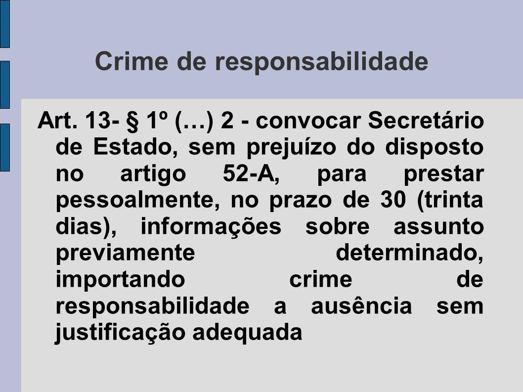 Crime de responsabilidade