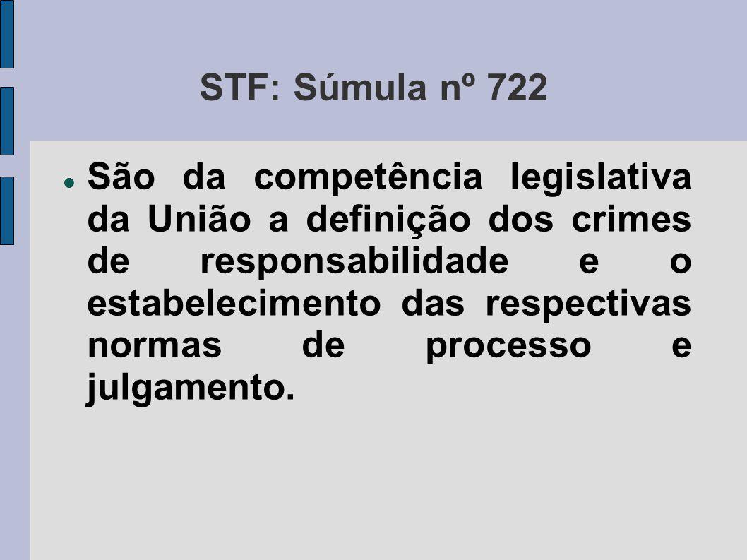 STF: Súmula nº 722