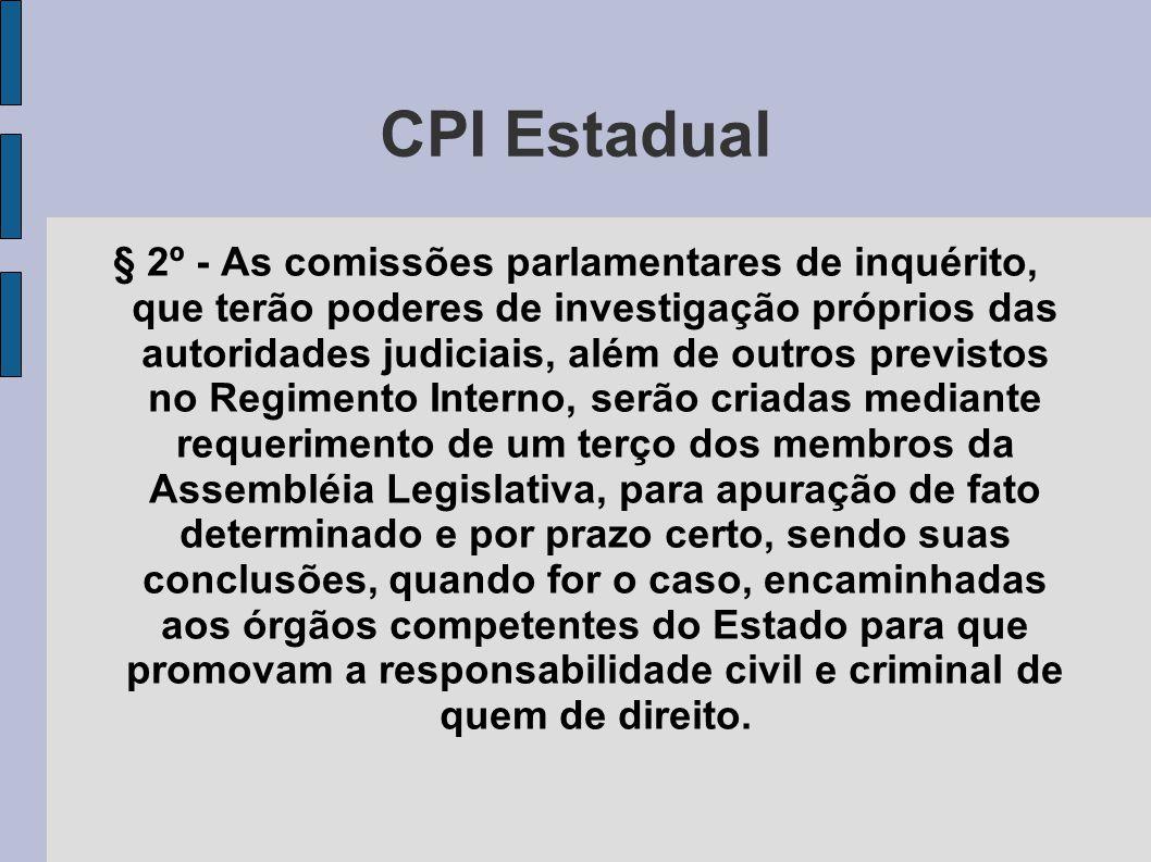 CPI Estadual