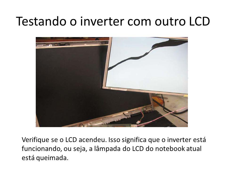 Testando o inverter com outro LCD