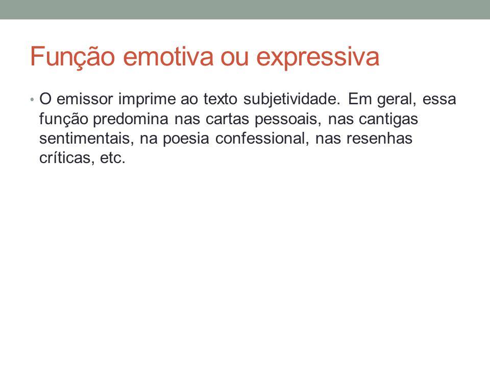 Função emotiva ou expressiva