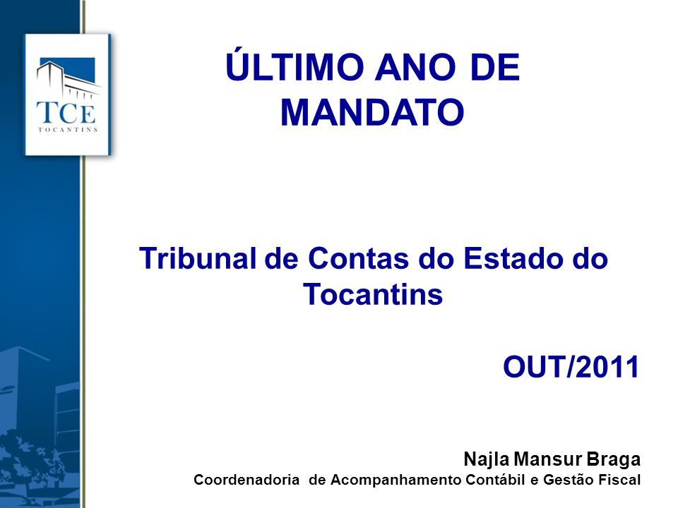 Tribunal de Contas do Estado do Tocantins