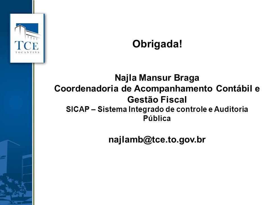 Obrigada! Najla Mansur Braga