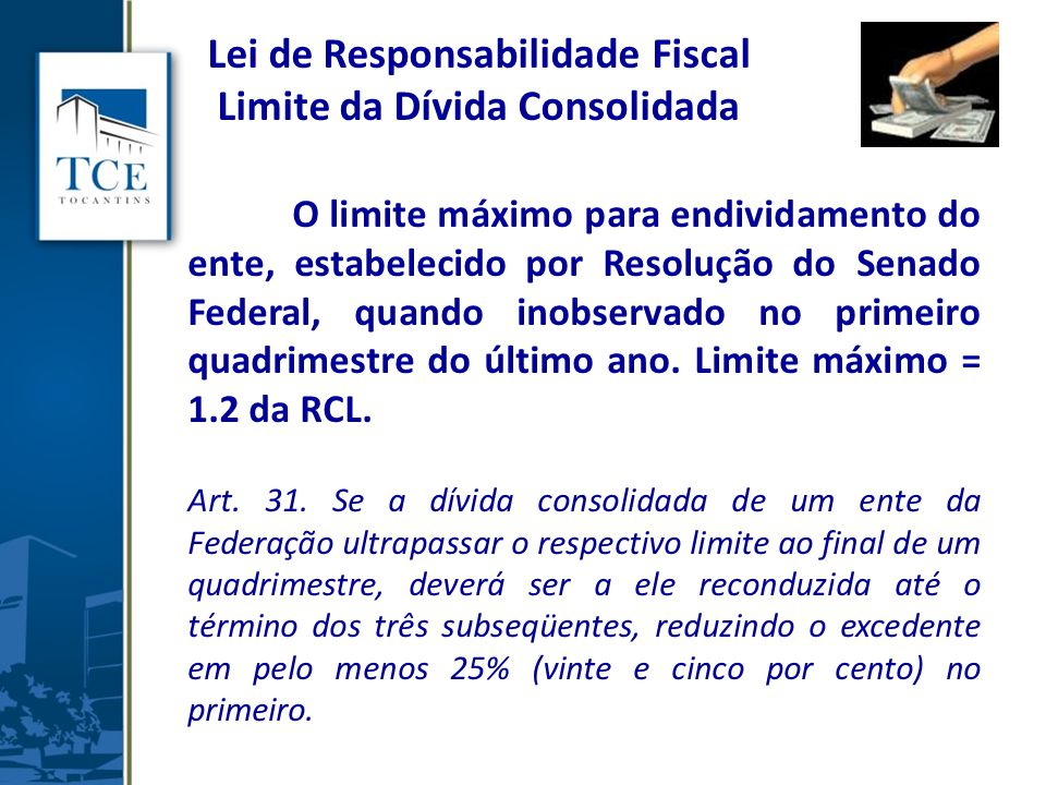 Lei de Responsabilidade Fiscal Limite da Dívida Consolidada