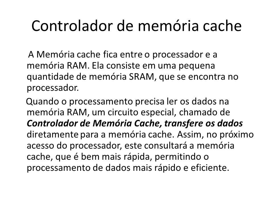 Controlador de memória cache