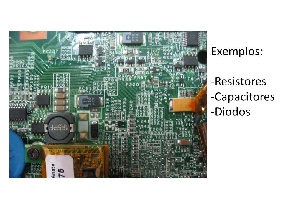Exemplos: Resistores Capacitores Diodos