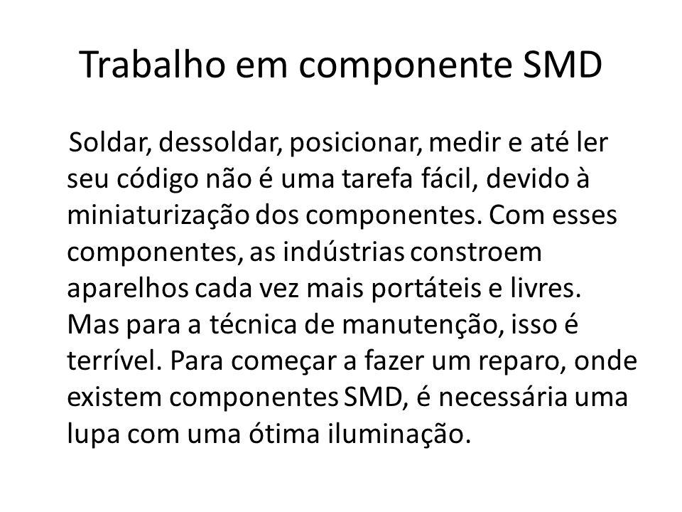 Trabalho em componente SMD