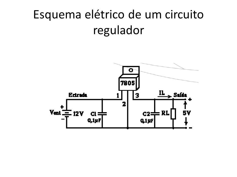 Esquema elétrico de um circuito regulador