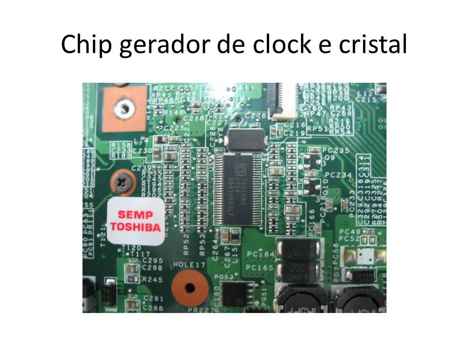 Chip gerador de clock e cristal