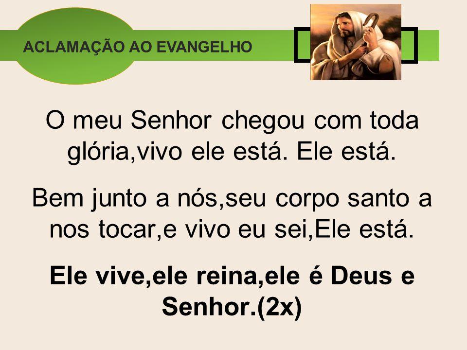 Ele vive,ele reina,ele é Deus e Senhor.(2x)