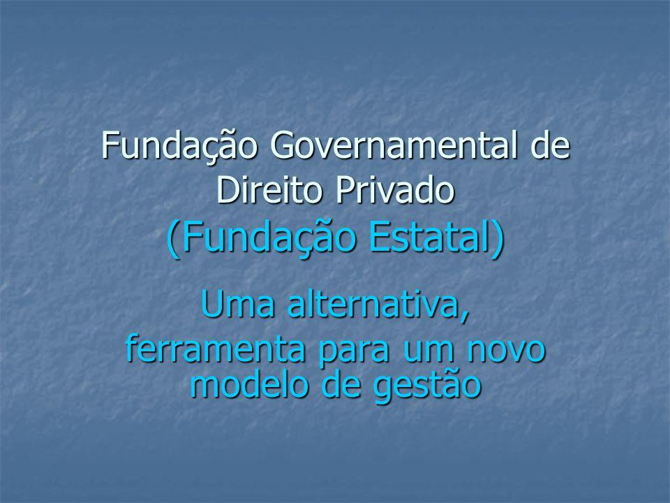 Fundação Governamental de Direito Privado (Fundação Estatal)
