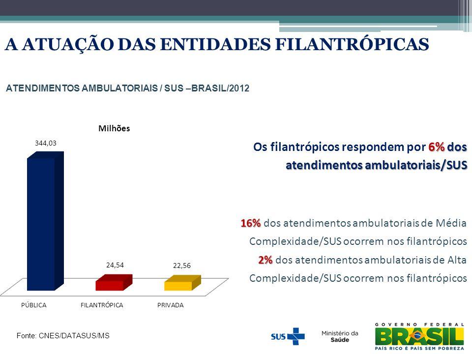 Atendimentos ambulatoriais / SUS –BRASIL/2012