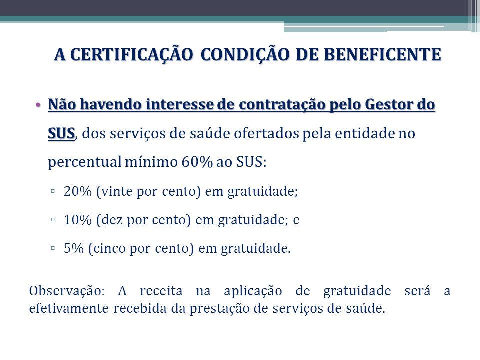 A CERTIFICAÇÃO CONDIÇÃO DE BENEFICENTE