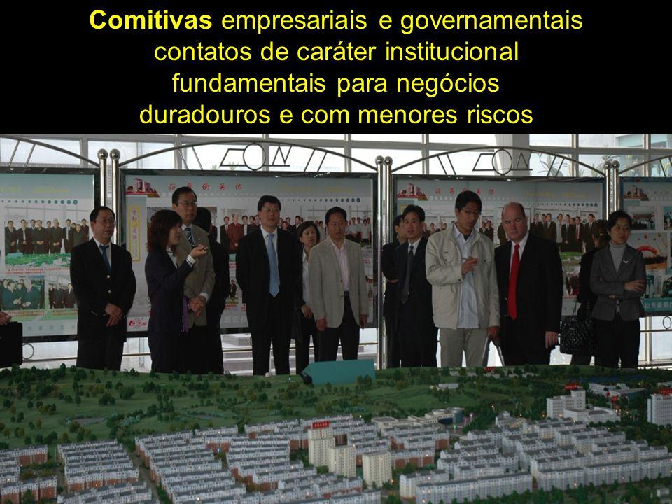 Comitivas empresariais e governamentais