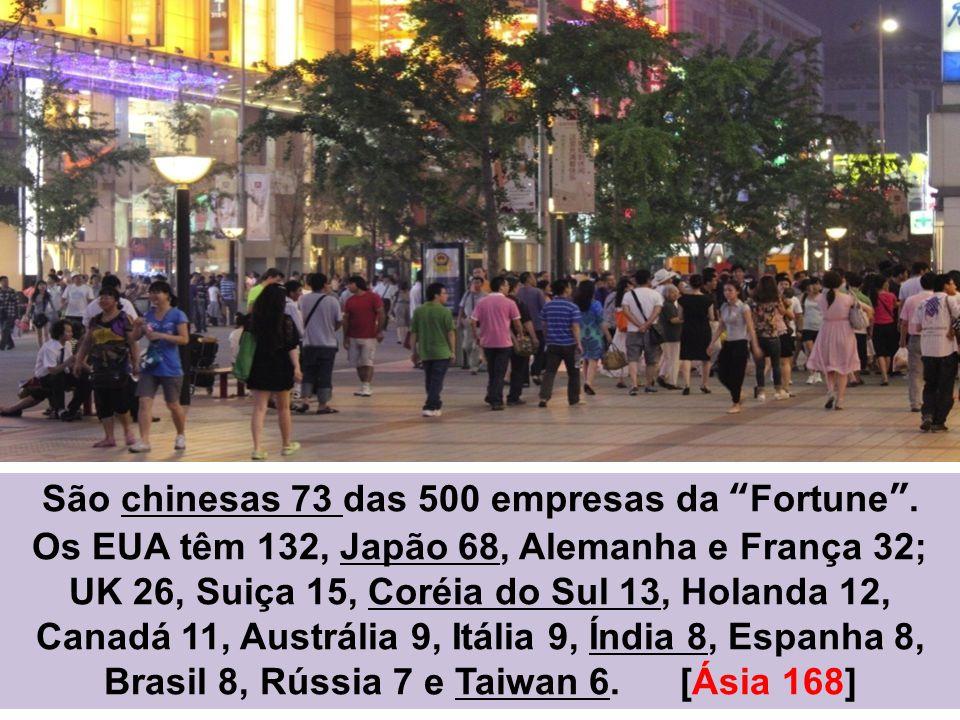 São chinesas 73 das 500 empresas da Fortune .