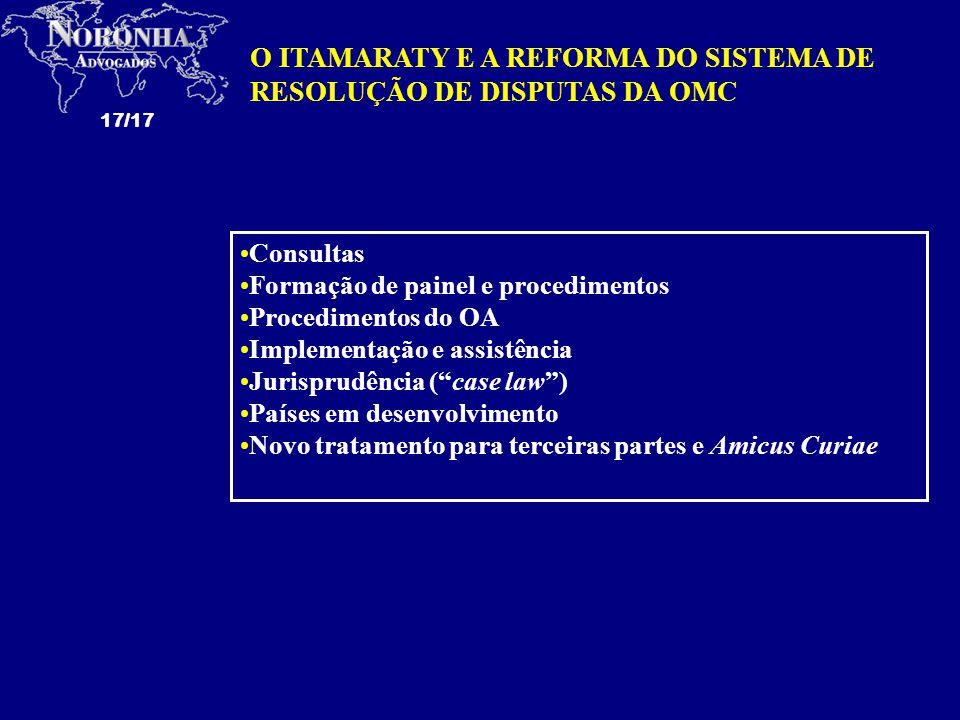 O ITAMARATY E A REFORMA DO SISTEMA DE RESOLUÇÃO DE DISPUTAS DA OMC
