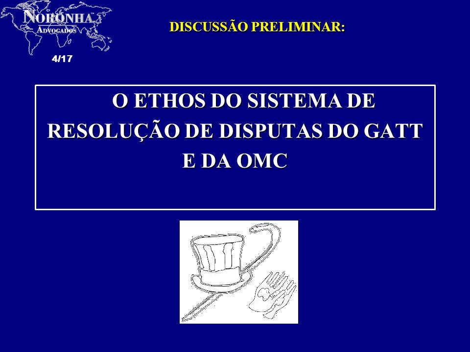 RESOLUÇÃO DE DISPUTAS DO GATT