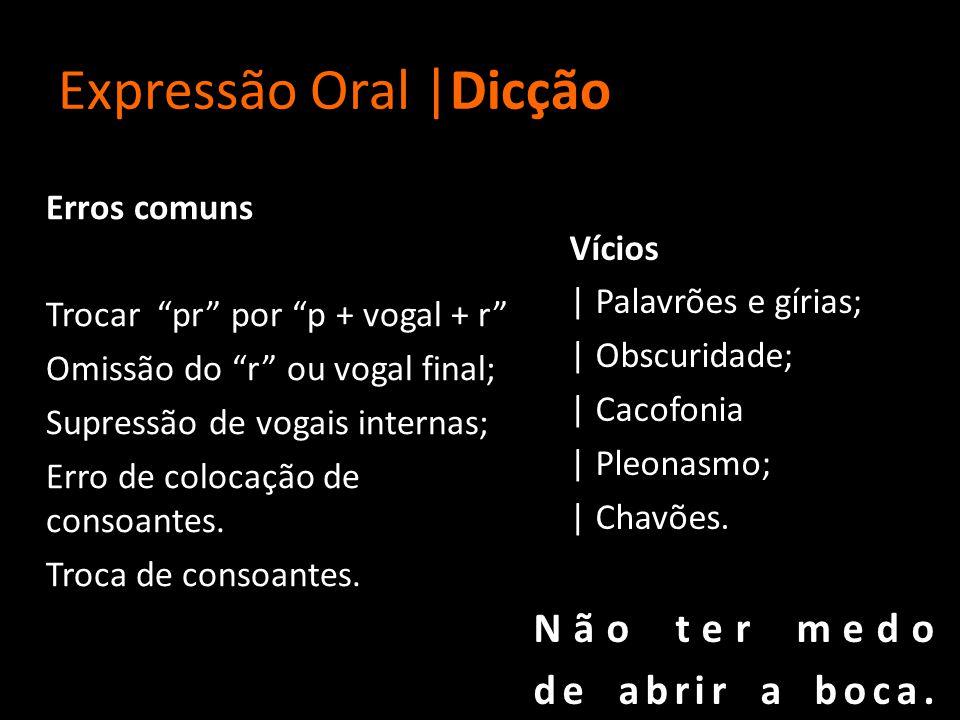 Expressão Oral |Dicção