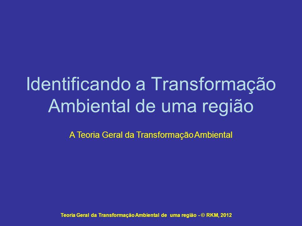 Identificando a Transformação Ambiental de uma região