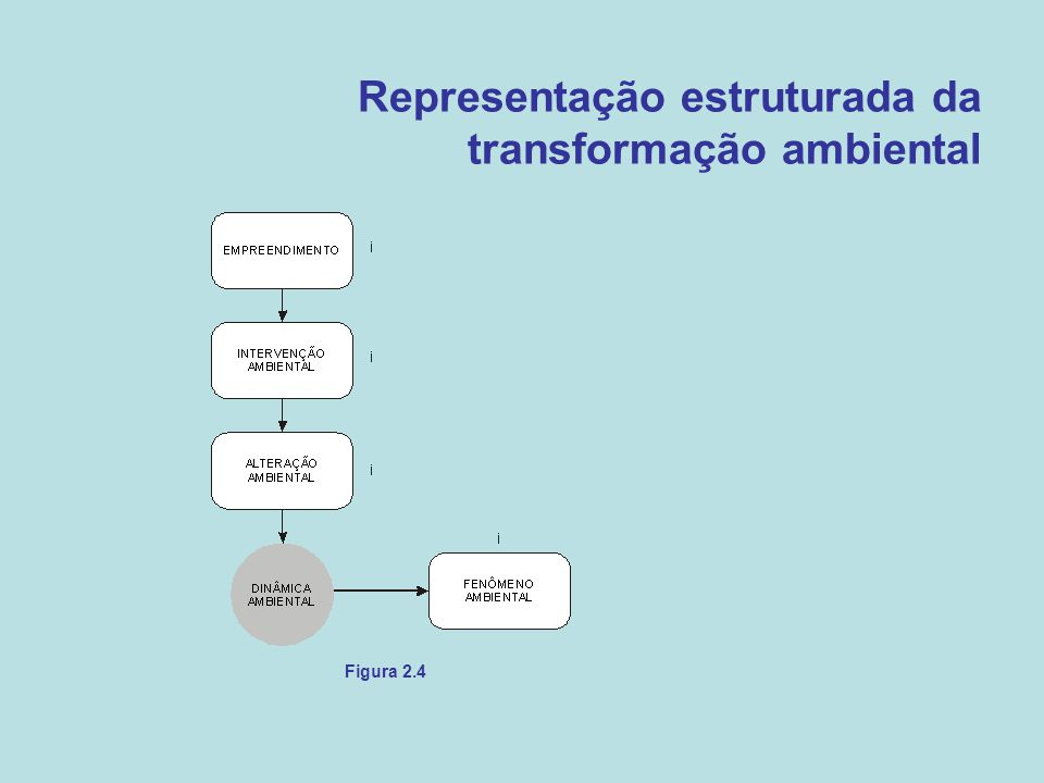 Representação estruturada da transformação ambiental